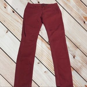 LOVESICK THE SKINNY Womens 1 Red Jeans